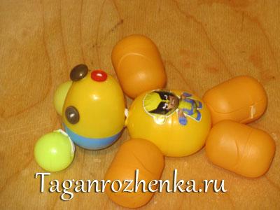 Как сделать из яйца медведя