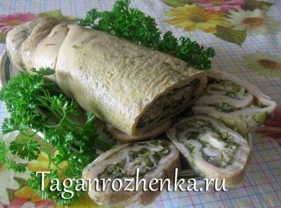 Гнездо глухаря рецепт салата с колбасой