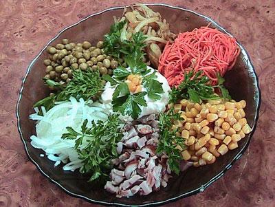 Салат «Цветик семицветик» | Праздничные салаты